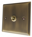 Deco Plate Antique Bronze Toggle Light Switches